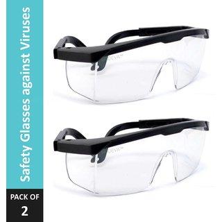 MRDEVA Safety Glasses against Airborne Viruses(Pack of 2)