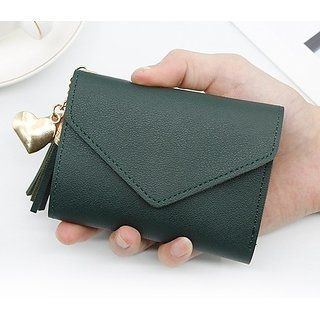 fashlook green wallet for women