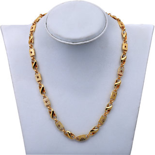 Shankhraj Mall Gold Plated Love Design Necklace Chain For Men