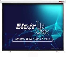 ELCOR lite series manual projection screen 84-Inch Diaognal 403, Non-Autolock Mechanism, full HD,3D,4K Ready