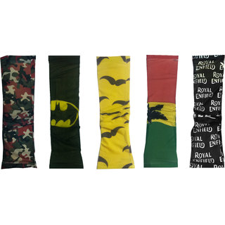 5 Pairs - Wearable Cotton Arm sleeves Skin Cover for Sun protection(Multi Color)