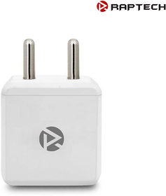 Raptech 5V/2 Amp Singal USB Port Wall Fast Charger Travel Charger White