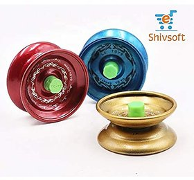 Shivsoft Metal Matt Finish Alloy Ball Bearing YoYo Toy-1PC