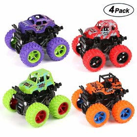 Monster Truck Cars, Free Wheel  Toy Trucks Friction Powered Cars 4 Wheel Drive Vehicles for Toddlers Children