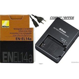 Nikon En-el14 Battery  Mh-24 Charger For Nikon P7100 P7000 D3100 D5100 D3200