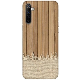 OnHigh Designer Printed Hard Back Cover Case For Oppo Realme 6, Straight Wooden Lines