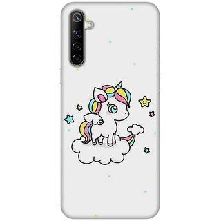 OnHigh Designer Printed Hard Back Cover Case For Oppo Realme 6, Flying Unicorn