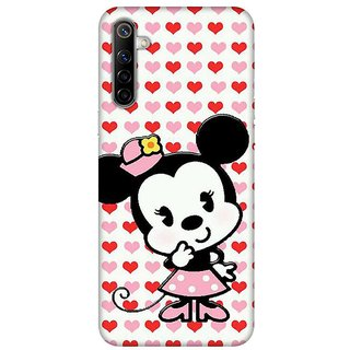OnHigh Designer Printed Hard Back Cover Case For Oppo Realme 6, Thinking Case
