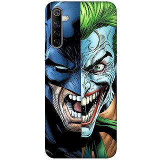 OnHigh Designer Printed Hard Back Cover Case For Oppo Realme 6, Face of Two Parts