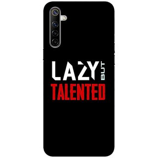 OnHigh Designer Printed Hard Back Cover Case For Oppo Realme 6, Lazy Talent