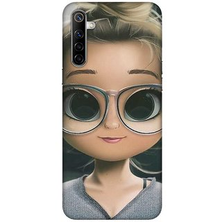 OnHigh Designer Printed Hard Back Cover Case For Oppo Realme 6, Specs Doll