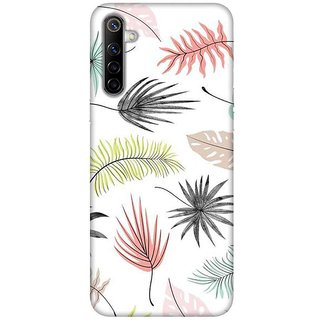 OnHigh Designer Printed Hard Back Cover Case For Oppo Realme 6, Lots of Leaves