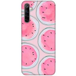 OnHigh Designer Printed Hard Back Cover Case For Oppo Realme 6, Pink Fruits