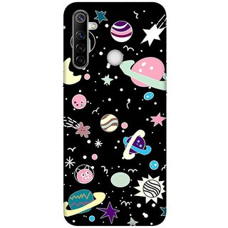 OnHigh Designer Printed Hard Back Cover Case For Oppo Realme Narzo 10, Space Art