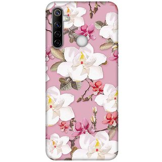 OnHigh Designer Printed Hard Back Cover Case For Oppo Realme Narzo 10, Papper Flawer