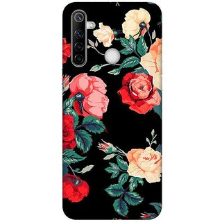 OnHigh Designer Printed Hard Back Cover Case For Oppo Realme Narzo 10, Scary Rose
