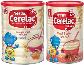 Nestle Cerelac Combo 400g (Pack of 2) - Honey & Wheat With Milk + Wheat & Dates