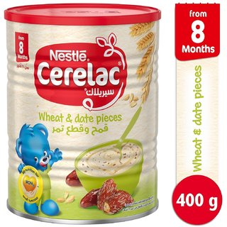 Nestle Cerelac Wheat & Date Pieces - 400g (Imported) (Pack of 3)