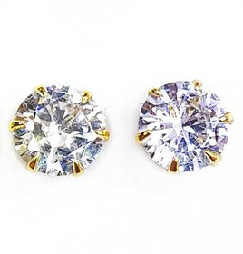 American diamond Earring tops gold polished unisex use (f307)