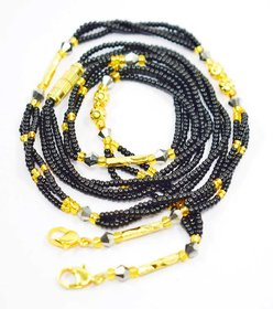 Mangalsutra (bids Mala) 26 size black and golden color females use (F343)