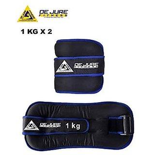 DE JURE FITNESS Ankle Weight/Wrist Weight 1KG Pair (1kgX2pcs)