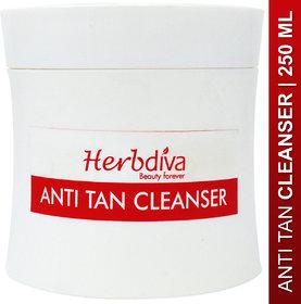 Herbdiva Anti Tan Cleanser For Instant Tan Removal 250ml