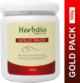 Herbdiva Gold Dust Almond Oils With Detoxifying Hydrating Pack 500gm