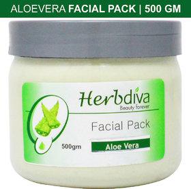 Herbdiva Aloevera Facial Pack For Dark Complexion 500GM