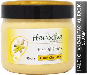Herbdiva Haldi Chandan Facial Pack For Dark Complexion 500GM