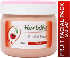 Herbdiva Fruit Facial Pack For Dark Complexion 500GM