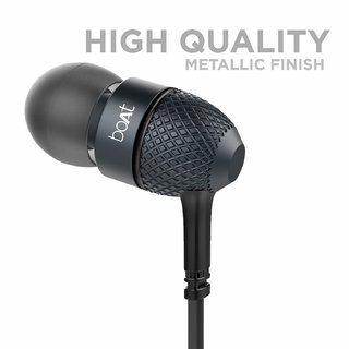 Extra Bass In Ear Wired Earphones With Mic (Black)
