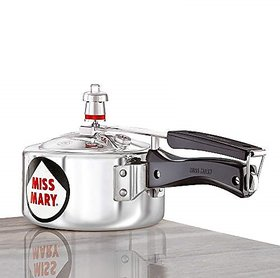 Hawkins Miss Mary Aluminum Pressure Cooker 1.5 litres Silver