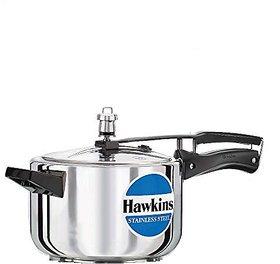 Hawkins Stainless Steel 4.0 Litre Pressure Cooker by Hawkins