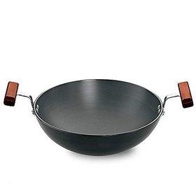 Hawkins Futura Hard Anodised Round Bottom Deep-Fry Pan(22cm/1.5 Litres)