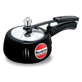 Hawkins Contura Hard Anodised Aluminium Pressure Cooker 1.5 Liters Black
