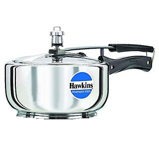 Hawkins Stainless Steel 3.0 Litre Pressure Cooker by A J Distributors Inc. Pressure Cookers