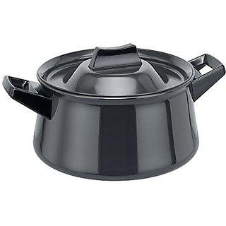 Hawkins Futura Hard Anodised Handi 3 L Sauce Pan,Black