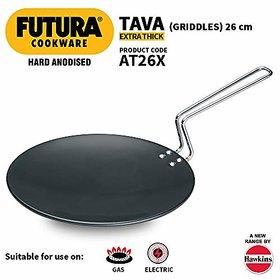 Hawkins Futura Hard Anodised Tawa 26cm Black