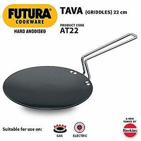 Hawkins Futura Hard Anodised Tawa 22cm Black