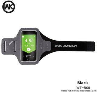 WK Lerun Arm Band For Mobiles Wt-B09 - Black