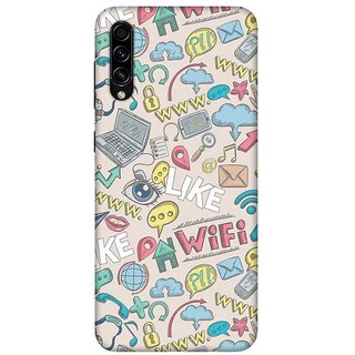 OnHigh Designer Printed Hard Back Cover Case For Samsung A70s, Wifi Wifi