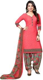 Kkrish Unstitched Crepe Dress Material Suit with Chiffon Dupatta and Crepe Salvar Piece.
