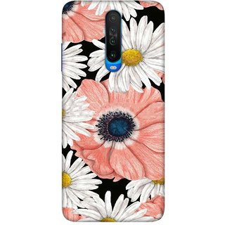 OnHigh Designer Printed Hard Back Cover Case For Redmi Poco X2 / Redmi K30, Two Flowers