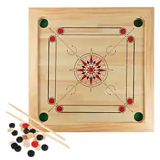 Indoor game carrom board size 20 inch coins