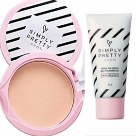 Avon Simply Pretty Shine-no-More Pressed Powder  Gel Foundation (Natural Beige)