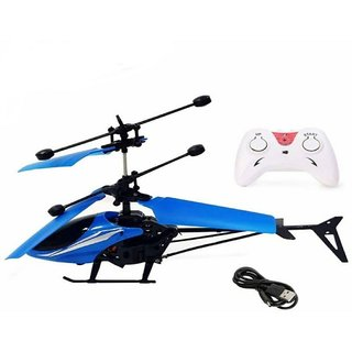 Remote Control Helicopter Toys with remote control blue colour Helicopter Sensor Aircraft USB Charger Flying Helicopter