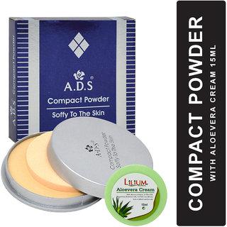 ADS Soft Skin Oil Free Compact Powder A1115 with Lilium Aloevera Cream