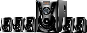 I KALL TA-111 Portable 5.1 Channels Home Audio Speaker with USB Port and Aux Cable (5000 Watts PMPO, Black)