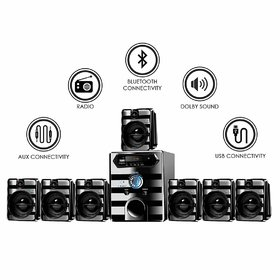IKALL IK-8888 Multimedia 7.1 Home Audio System with Bluetooth, Aux, USB, FM Connectivity