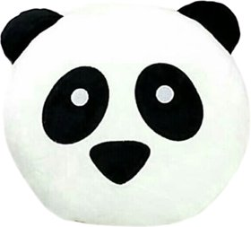 Ultra Soft Panda Designed Panda Pillow With Fantastic Color Black And White Cotton Round Shape